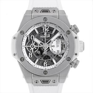 48回払いまで無金利 ウブロ ビッグバン ウニコ チタニウム ホワイト 441.NE.2010.RW 中古 メンズ 腕時計|ginzarasin