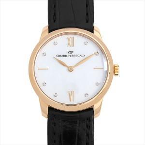 48回払いまで無金利 ジラールペルゴ 1966 レディ 30mm 8Pダイヤ 49528-52-771-CK6A 中古 レディース 腕時計|ginzarasin