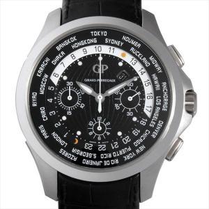 ジラールペルゴ トラベラー ムーンフェイズ&ラージデイト 49700-11-631-BB6B 中古 メンズ 腕時計 ginzarasin