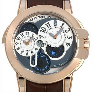 最大2万円OFFクーポン配布 ハリーウィンストン オーシャン デュアルタイム 400/MATZ44RL.W 中古 メンズ 腕時計 48回払いまで無金利|ginzarasin