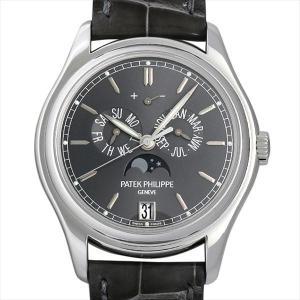 SALE パテックフィリップ アニュアルカレンダー ムーンフェイズ 5146P-001 中古 メンズ 腕時計|ginzarasin