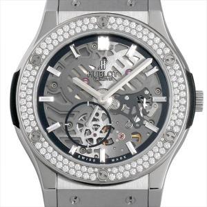 ウブロ クラシックフュージョン クラシコ ウルトラシン チタニウム ダイヤモンド 515.NX.0170.LR.1104 中古 メンズ 腕時計|ginzarasin