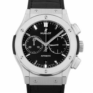 48回払いまで無金利 ウブロ クラシックフュージョン クロノグラフ チタニウム 521.NX.1171.LR 中古 メンズ 腕時計|ginzarasin
