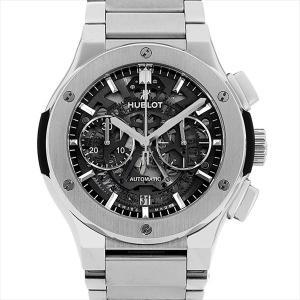 48回払いまで無金利 ウブロ アエロフュージョン チタニウム ブレスレット 528.NX.0170.NX 中古 メンズ 腕時計|ginzarasin