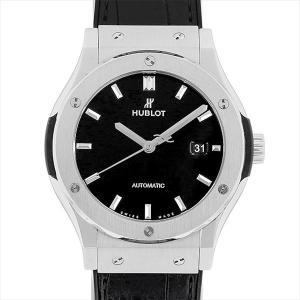 ウブロ クラシックフュージョン ブラックシャイニー 542.NX.1270.LR 中古 メンズ 腕時計|ginzarasin