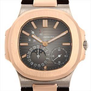 パテックフィリップ ノーチラス パワーリザーブ ムーンフェイズ 5712GR-001 中古 メンズ 腕時計|ginzarasin