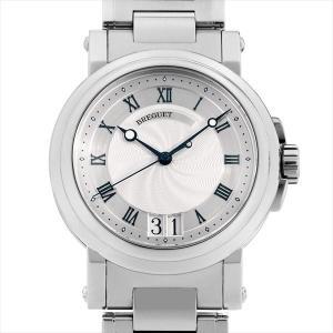 48回払いまで無金利 ブレゲ マリーンII ラージデイト 5817ST/12/SM0 中古 メンズ 腕時計|ginzarasin