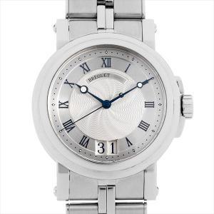 48回払いまで無金利 ブレゲ マリーンII ラージデイト 5817ST/12/SV0 中古 メンズ 腕時計|ginzarasin