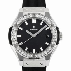 SALE 48回払いまで無金利 ウブロ クラシックフュージョン チタニウム ダイヤモンド 581.NX.1171.RX.1104 中古 レディース 腕時計 ginzarasin