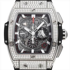 48回払いまで無金利 ウブロ スピリット オブ ビッグバン チタニウム パヴェ 641.NX.0173.LR.1704 中古 メンズ 腕時計|ginzarasin