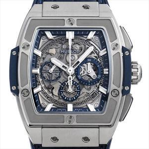 48回払いまで無金利 ウブロ スピリット オブ ビッグバン チタニウム ブルー 641.NX.7170.LR 中古 メンズ 腕時計|ginzarasin