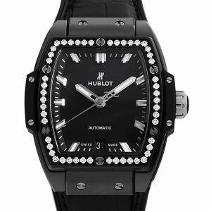 48回払いまで無金利 ウブロ スピリット オブ ビッグバン ブラックマジック ダイヤモンド 665.CX.1170.LR.1204 中古 レディース 腕時計|ginzarasin