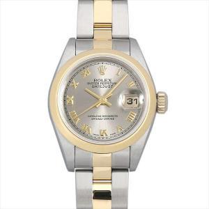 48回払いまで無金利 ロレックス デイトジャスト 69163 グレー/ローマ U番 中古 レディース 腕時計|ginzarasin