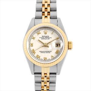 48回払いまで無金利 ロレックス デイトジャスト 69173 アイボリーピラミッド/ローマ T番 中古 レディース 腕時計|ginzarasin