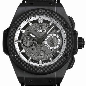 ウブロ キングパワー ウニコ ブラック アンド ホワイト 701.CQ.0112.HR 中古 メンズ 腕時計|ginzarasin