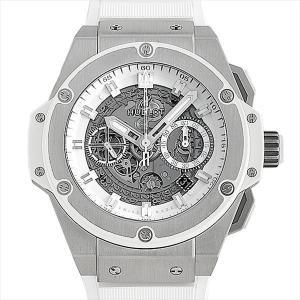 ウブロ キングパワー ウニコ チタニウム ホワイト 701.NE.0127.GR 中古 メンズ 腕時計|ginzarasin