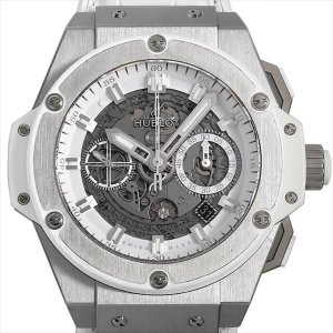 SALE 48回払いまで無金利 ウブロ キングパワー ウニコ チタニウム ホワイト 701.NE.0127.GR 中古 メンズ 腕時計 ginzarasin