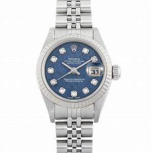 48回払いまで無金利 ロレックス デイトジャスト 10Pダイヤ 79174G ソーダライト K番 中古 レディース 腕時計|ginzarasin