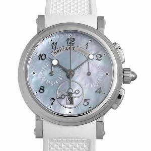 48回払いまで無金利 ブレゲ マリーンクロノ 8827ST/59/586 中古 レディース 腕時計|ginzarasin