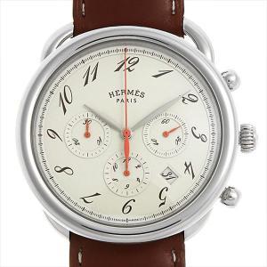 48回払いまで無金利 エルメス アルソー クロノグラフ AR4.910.430 中古 メンズ 腕時計|ginzarasin