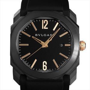 48回払いまで無金利 ブルガリ オクト ウルトラネロ BGO41BBSVD 中古 メンズ 腕時計|ginzarasin