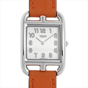 48回払いまで無金利 エルメス ケープコッド CC1.210.220/WOR 中古 レディース 腕時計|ginzarasin