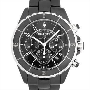 48回払いまで無金利 シャネル J12 クロノグラフ 黒セラミック H0940 中古 メンズ 腕時計|ginzarasin