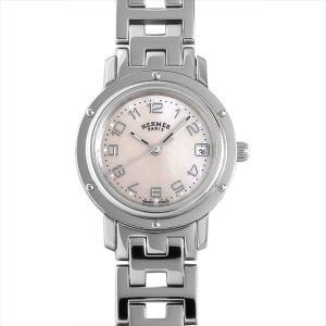 48回払いまで無金利 エルメス クリッパー ナクレ CL4.210.214/3821 中古 レディース 腕時計|ginzarasin
