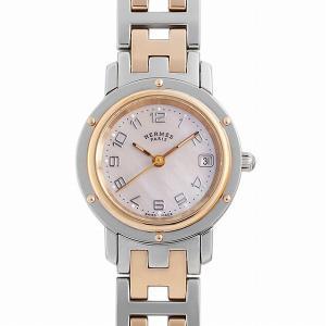 48回払いまで無金利 エルメス クリッパー CL4.221 中古 レディース 腕時計