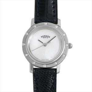 48回払いまで無金利 エルメス クリッパー ナクレ CL4.230 中古 レディース 腕時計|ginzarasin