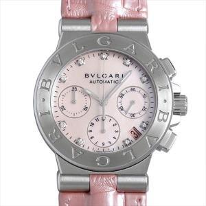 48回払いまで無金利 ブルガリ ディアゴノ クロノグラフ DG35C2SLDCH/9 中古 レディース 腕時計|ginzarasin