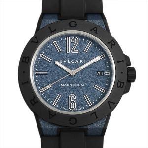 60回払いまで無金利 ブルガリ ディアゴノ マグネシウム ブルーラッカー DG41C3SMCVD 中古 メンズ 腕時計|ginzarasin