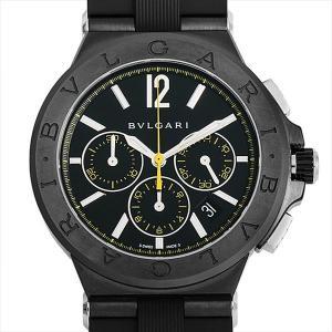 48回払いまで無金利 ブルガリ ディアゴノ ウルトラネロ クロノグラフ DG42BBSCVDCH/2(DG42BSCCH) 中古 メンズ 腕時計|ginzarasin