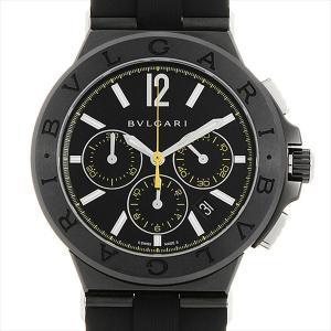 48回払いまで無金利 ブルガリ ディアゴノ ウルトラネロ クロノグラフ DG42BBSCVDCH/2 中古 メンズ 腕時計|ginzarasin