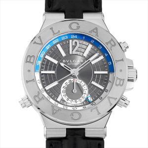 60回払いまで無金利 【ご予約品】ブルガリ ディアゴノ GMT DG40C14SSDGMT(DG40SGMT) 中古 メンズ 腕時計|ginzarasin