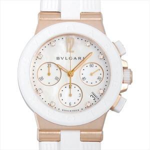 48回払いまで無金利 SALE ブルガリ ディアゴノ クロノグラフ DGP37WGCVDCH/8 中古 ボーイズ(ユニセックス) 腕時計|ginzarasin