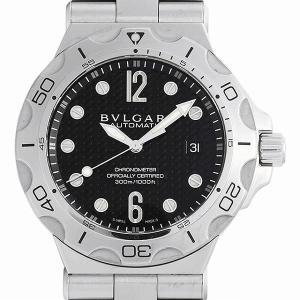 60回払いまで無金利 ブルガリ ディアゴノ プロフェッショナル スクーバ アクア DP42BSSDSD 中古 メンズ 腕時計|ginzarasin