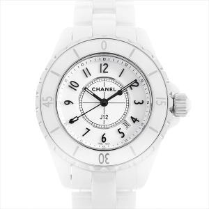 48回払いまで無金利 シャネル J12 白セラミック H0968 中古 レディース 腕時計|ginzarasin