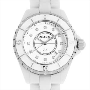 48回払いまで無金利 シャネル J12 白セラミック 12Pダイヤ H1628 中古 レディース 腕時計|ginzarasin