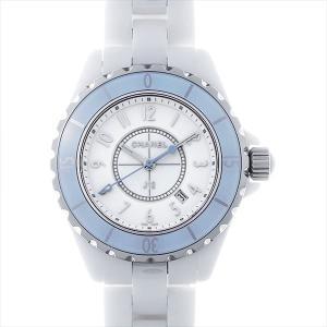 48回払いまで無金利 SALE シャネル J12 33 ソフトブルー 世界限定1200本 H4340 中古 レディース 腕時計|ginzarasin