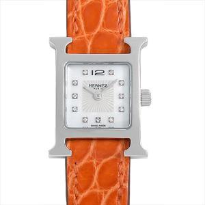 48回払いまで無金利 エルメス Hウォッチ ミニ 11Pダイヤ HH1.110.290 中古 レディース 腕時計|ginzarasin