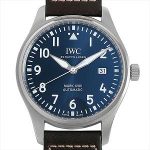 48回払いまで無金利 IWC パイロットウォッチ マーク18 プティプランス IW327004 中古 メンズ 腕時計|ginzarasin