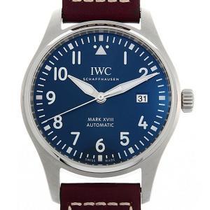 48回払いまで無金利 SALE IWC パイロットウォッチ マーク18 プティプランス IW327004 中古 メンズ 腕時計|ginzarasin