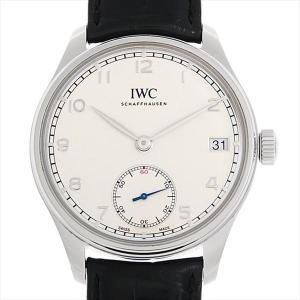 48回払いまで無金利 IWC ポルトギーゼ ハンドワインド 8デイズ IW510203 中古 メンズ 腕時計|ginzarasin