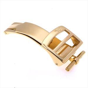 48回払いまで無金利 ジャガールクルト 純正Dバックル YG 16mm ディプロイメントバックル  中古 メンズ 腕時計|ginzarasin