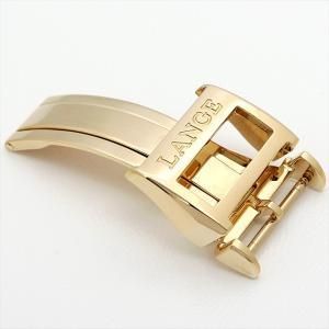 ランゲ&ゾーネ 純正Dバックル YG 18mm ディプロイメントバックル 中古 メンズ 腕時計 ginzarasin