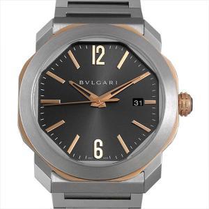 48回払いまで無金利 ブルガリ オクト ローマ OC41C5SPGLD 中古 メンズ 腕時計|ginzarasin