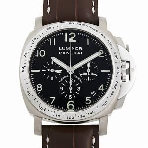 48回払いまで無金利 パネライ ルミノール クロノグラフ PAM00074 D番 中古 メンズ 腕時計|ginzarasin