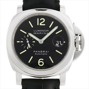48回払いまで無金利 パネライ ルミノールマリーナ PAM00104 J番 中古 メンズ 腕時計|ginzarasin