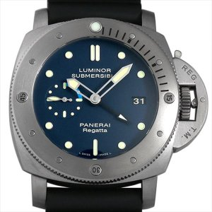 48回払いまで無金利 パネライ ルミノール サブマーシブル1950 レガッタ 3DAYS オートマティック N番 PAM00371 中古 メンズ 腕時計|ginzarasin